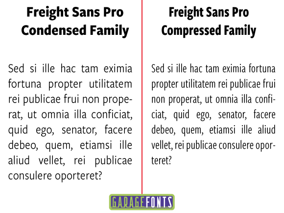 Typo freight sans pro condensed & compressed family