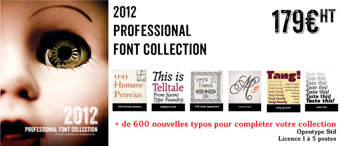Typo 2012 professional font collection
