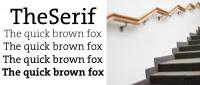 the serif by lucasfont font