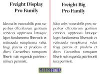 freight pro display & big family font