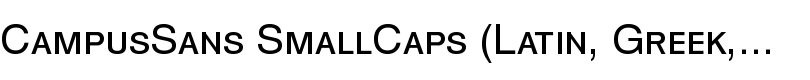 CampusSans SmallCaps (Latin, Greek, Cyrillic) font by MacCampus