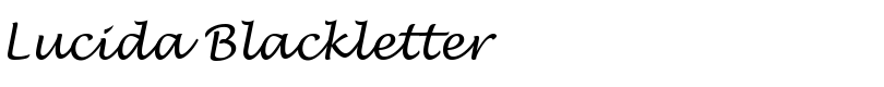 Lucida® Blackletter font by Monotype Imaging