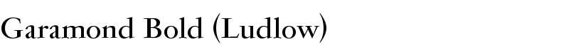 Garamond Bold (Ludlow)™ font by Red Rooster