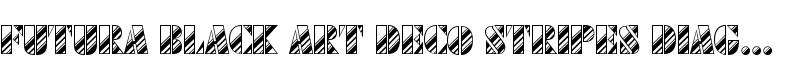 Futura Black Art Deco Stripes Diagonal  de URW++