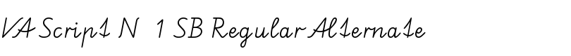 VA Script N° 1 SB Regular Alternate font