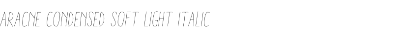 Aracne Condensed Soft Light Italic