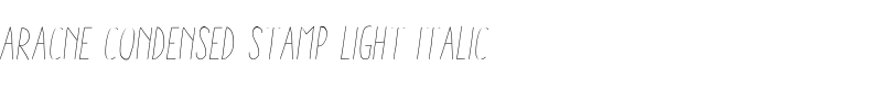 Aracne Condensed Stamp Light Italic