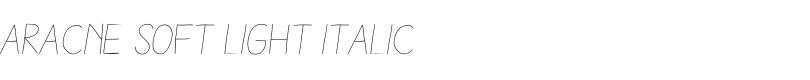 Aracne Soft Light Italic