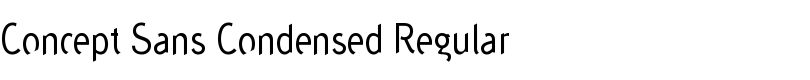 Concept™ Sans Condensed Regular