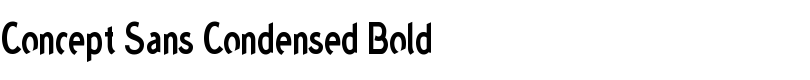 Concept™ Sans Condensed Bold