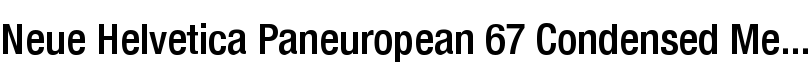 Neue Helvetica® Paneuropean 67 Condensed Medium