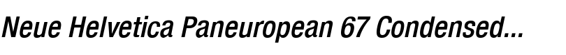 Neue Helvetica® Paneuropean 67 Condensed Medium Oblique