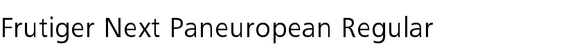 Frutiger® Next Paneuropean Regular