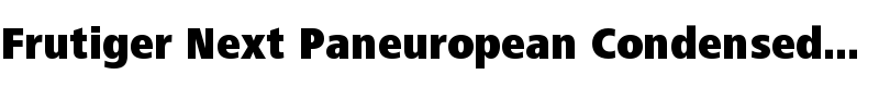 Frutiger® Next Paneuropean Condensed Black