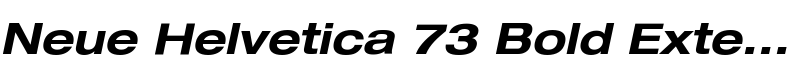 Neue Helvetica® 73 Bold Extended Oblique