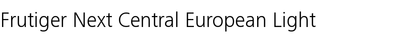 Frutiger® Next Central European Light
