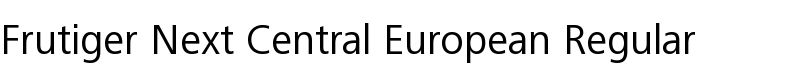 Frutiger® Next Central European Regular