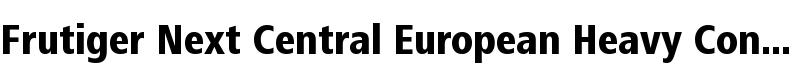 Frutiger® Next Central European Heavy Condensed