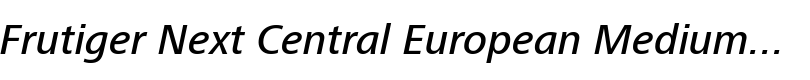 Frutiger® Next Central European Medium Italic