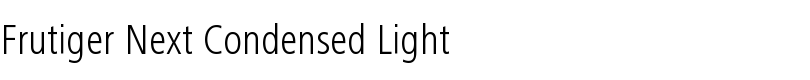 Frutiger® Next Condensed Light