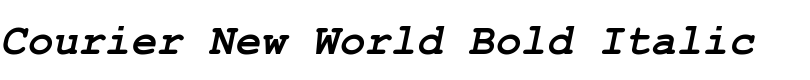 Courier New™ World Bold Italic