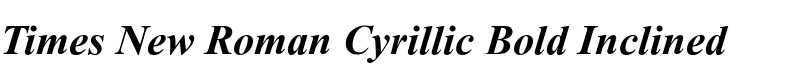Times New Roman® Cyrillic Bold Inclined
