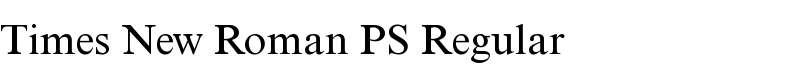 Times New Roman® PS Regular