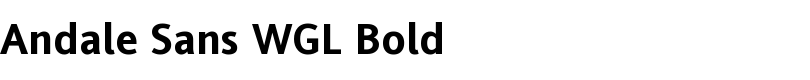 Andale® Sans WGL Bold