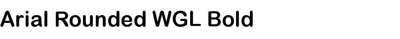 Arial® Rounded WGL Bold