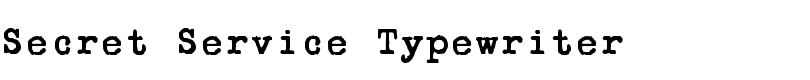 Secret Service Typewriter™ font