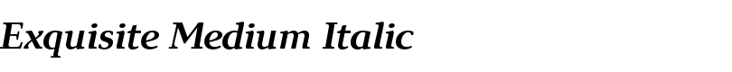 Exquisite Medium Italic