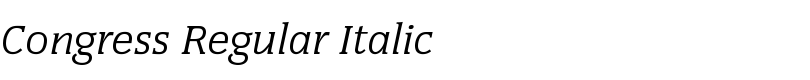 Congress Regular Italic  Std  font