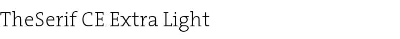 TheSerif CE Extra Light