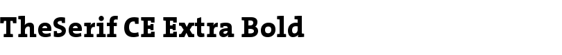 TheSerif CE Extra Bold