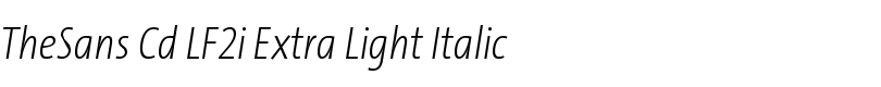 TheSans Cd LF2i Extra Light Italic